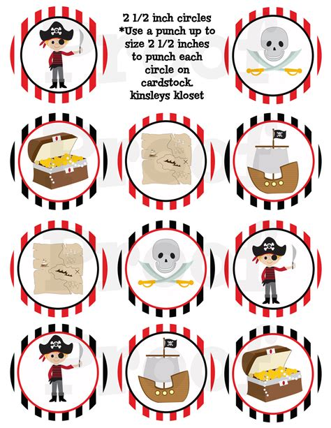 printable pirate birthday decorations printable party circles pirate party cupcake toppers