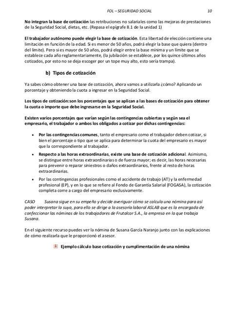 vencimiento seguridad social formacion y orientacion laboral tema 3 la seguridad