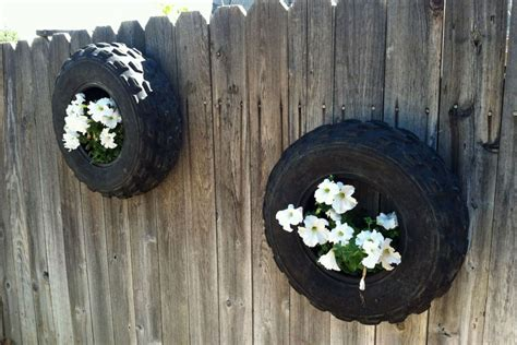 recycled tire planters  images planters easy
