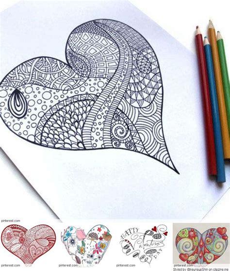 zentangle pattern a day 17 best images about art zentangle heart on pinterest