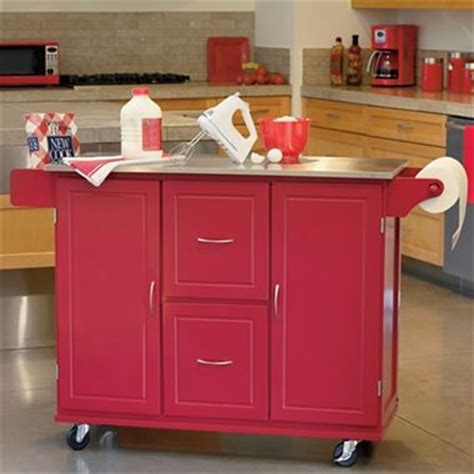 red kitchen cart island jefferson kitchen cart red traditional kitchen islands and kitchen carts by jcpenney