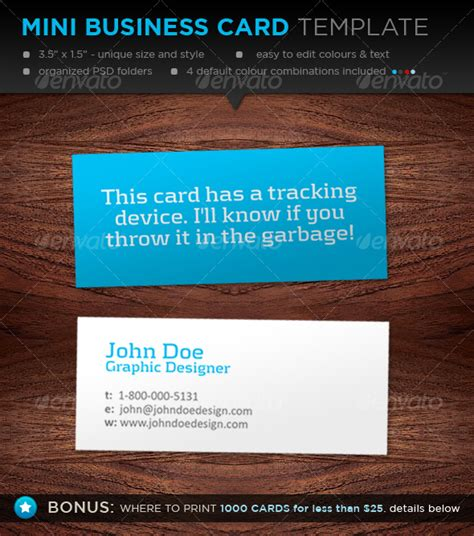 Mini Business Card Template Designers Graphicriver Mini Card Template