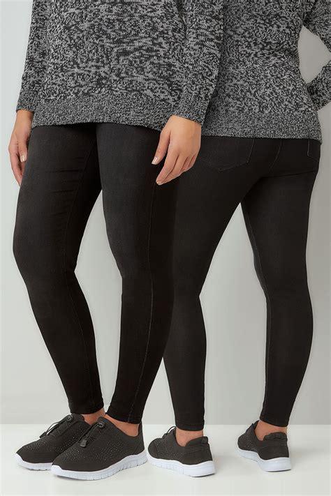 Leg 200 Medium Size Ekman Grab Sler Bottom Grab Sler black washed ultimate comfort stretch jeggings plus size 16 to 36