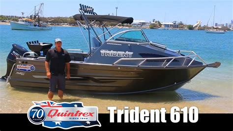 trident boats boat reviews on the broadwater quintrex trident 610