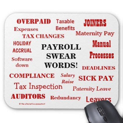 payroll swear words annoying funny payroll terms mouse pad zazzlecom payroll humor words