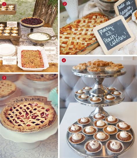 Wedding Tart desserts pies and exquisite weddings