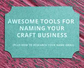 Handmade Business Names - the 4 best craft business name generators