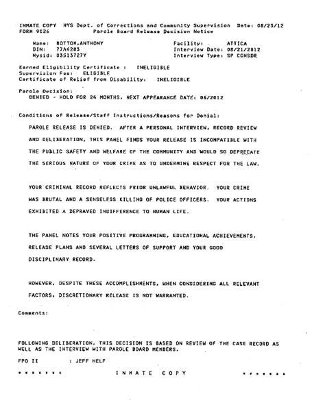 Parole Petition Letter Sle Letter How To Appeal Parole Decision Sle Business Letter