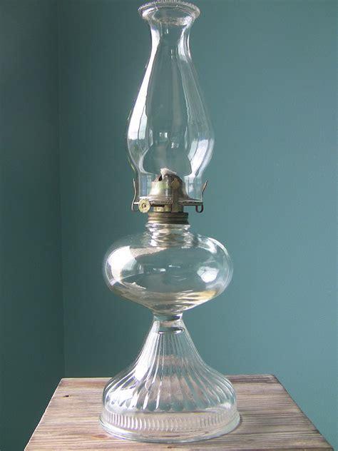 Large Vintage Oil Lamp Hurricane Lamp Antique by