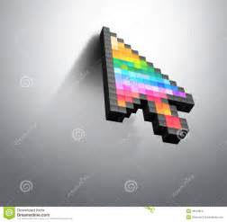 cursor color pixel computer mouse royalty free stock image
