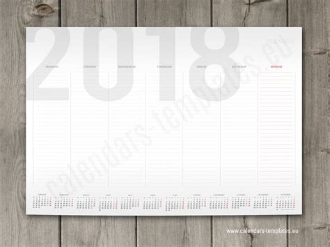 printable weekly wall planner 2018 weekly planner template with small yearly calendar