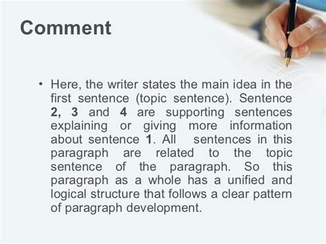 sentence pattern notes english 11r homework and sentence exle of a unified paragraph