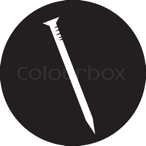 Colour Box Nail metal nail icon stock vector colourbox