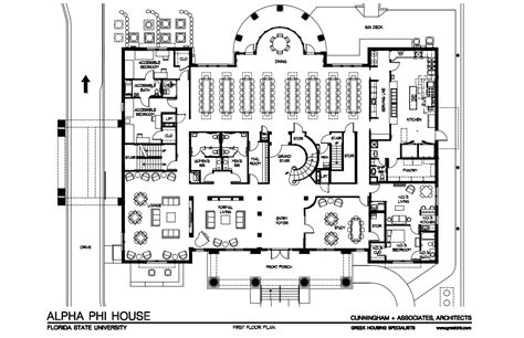 fraternity house floor plans total frat move florida state s alpha phi chapter is building a new house and it looks awesome