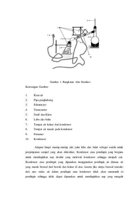 Adaptor Destilasi pemisahan alkohol dan air dengan destilasi