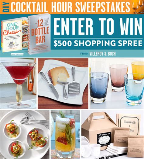 Diy Sweepstakes And Contests - diy cocktail hour sweepstakes villeroy boch blog