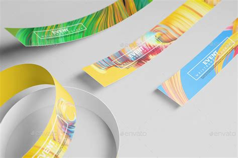 Event Wristband Template Event Wristbands Mockup By Wutip Graphicriver