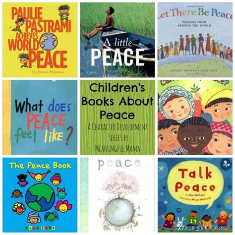 peace books books about peace for character development and