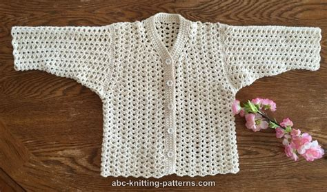 summer baby knitting patterns abc knitting patterns sweet summer baby cardigan
