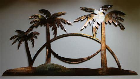 metal palm tree l tropical palm tree metal decor ebay