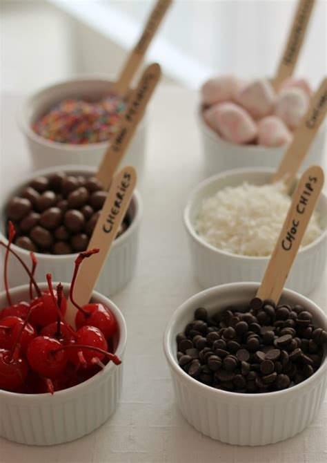 toppings for ice cream bar party idea a diy ice cream sundae bar pretty mayhem