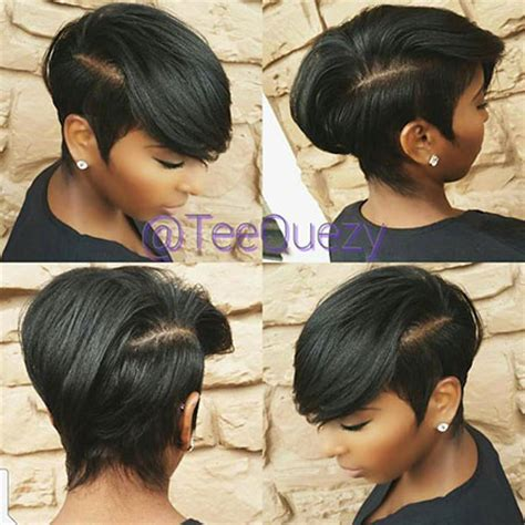 Short Haircuts For Black Women With A Swoop In The Front | 40 good short hairstyles for black women short