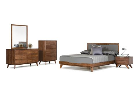 walnut bedroom furniture nova domus soria modern grey walnut bedroom set