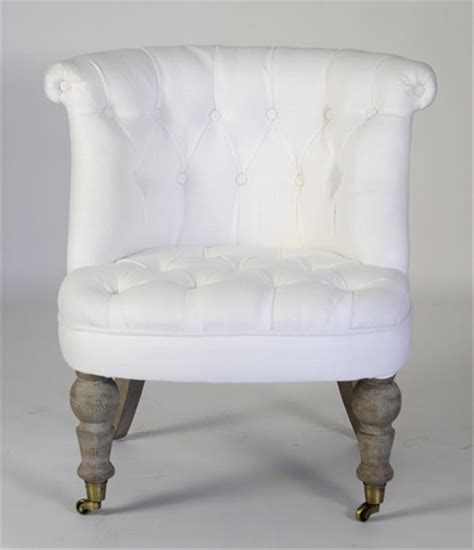white tufted chair amelie white linen tufted accent chair kathy kuo home