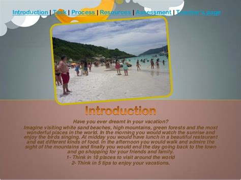 design a dream vacation webquest webquest my dream vacation