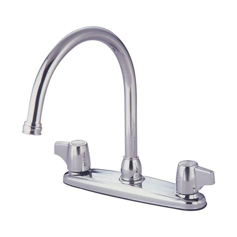 high arc kitchen faucet reviews shop elements of design chrome 2 handle high arc kitchen