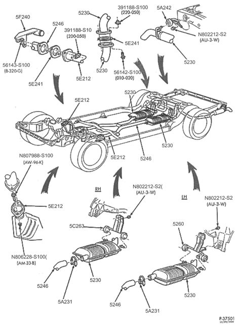 Ford Focus Exhaust Parts Diagram