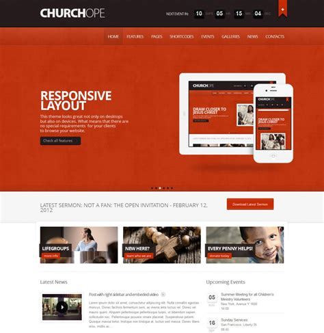 Wordpress Church Templates 25 top church website templates for religious websites