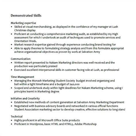 marketing cv exles pdf sle marketing resume pdf free sles exles