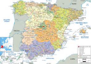 Spain Map Europe by Spain Europe Map Political Map Of Spain