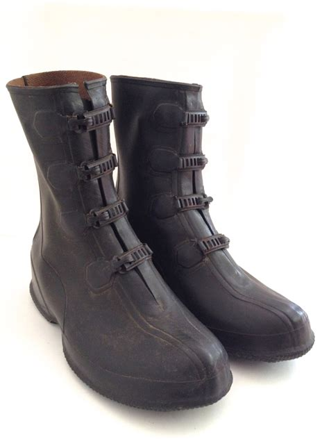 vintage rubber boots s snow boot goodyear santa