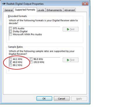 format audio realtek resolving hdmi sound issues