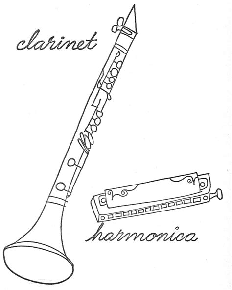 clarinet printable coloring pages