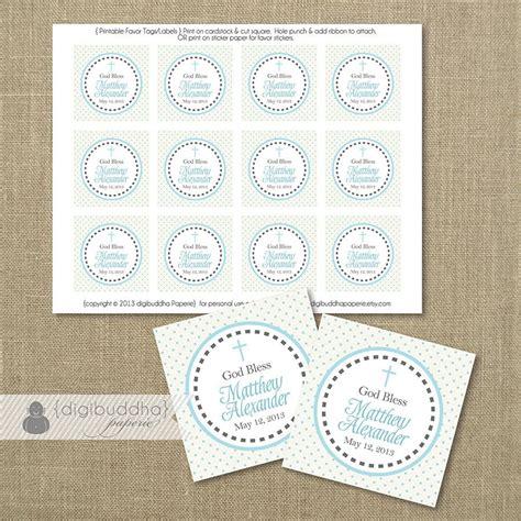 printable thank you tags for baptism blue dot favor tags baptism tags baby boy blue gray cross