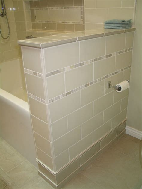 bathroom tile corner trim which trim was used on corners of the knee wall