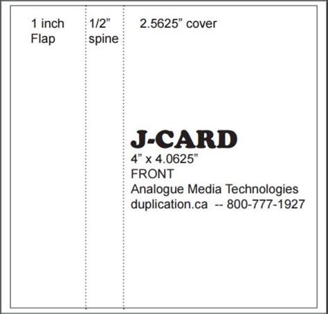 j card templat audio cassette j cards printed colour both sides from 20