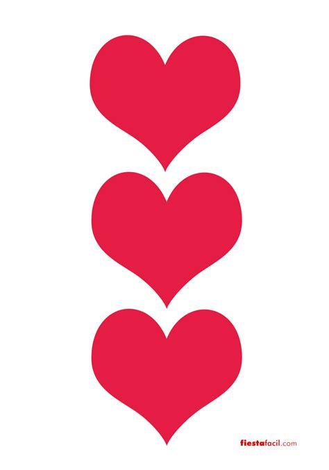 imagenes de corazones grandes y rojos imprimibles de corazones revista fiestafacil