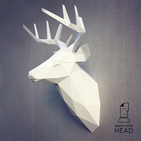 Papercraft Deer - papercraft deer 3 printable diy template