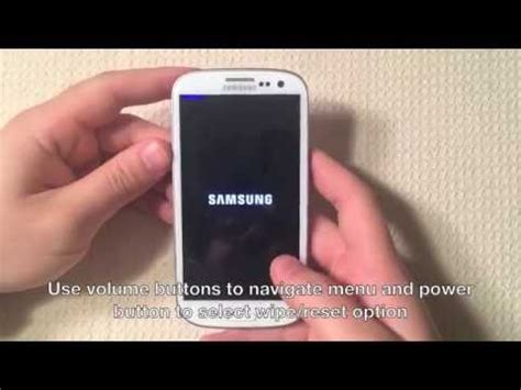hard reset samsung z130 samsung galaxy s3 hard reset factory reset youtube
