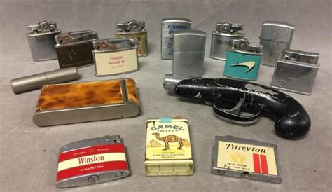 26 Lighters On Dresser by 16 Collectible Cigarette Lighters
