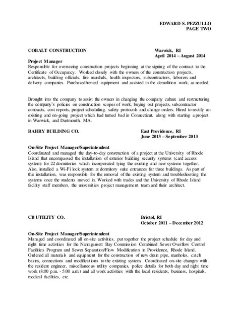 100 resume project manager construction project manager resume sles resume sles and
