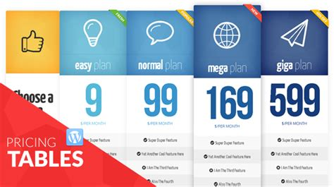 Bootstrap Responsive Tables Top 5 Premium Pricing Table Plugins For Wordpress