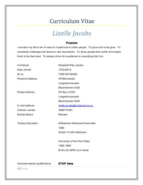 Cv Resume Sle Doc Curriculum Vitae Doc Curriculum Vitae Doc Sle Resume Cover Letter Best Resume