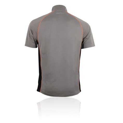 Gray Zipper Sleeved T Shirt Dtw039 2 higher state mens grey black half zip sleeve running t shirt new ebay