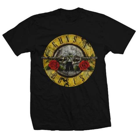 Guns N Roses Logo 4 Mens T Shirt bravado guns n roses distressed t shirt style