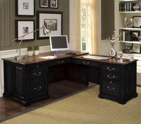 black executive desk home office furniture  elegance